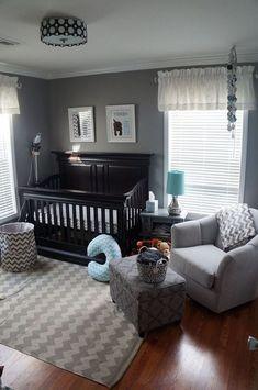 Cool Baby Room Decor Ideas for Boys – Boy Room 2020 Baby Boy Room Decor, Baby Room Design, Baby Bedroom, Baby Boy Rooms, Baby Boy Nurseries, Nursery Room, Baby Boys, Black Crib Nursery, Baby Room Grey