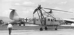 The earliest military helicopters were built by Germany and mainly saw service in the Mediterranean, but a few were also used in the Aegean and Baltic theatres. Both the Flettner 282 and the Focke Achgelis 223 (shown here) were never built in large numbers as a result of the production facilities being destroyed by Allied bombers.