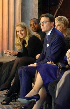 (L-R)The dutch royal family, Princess Mabel, Princess Laurentien and Prince Constantijn at the Prince Claus awards 2012 in Amsterdam on 12 Dec