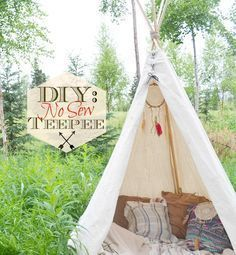 DIY- No Sew Teepee - Love this! Great Christmas present for a little girl or boy!