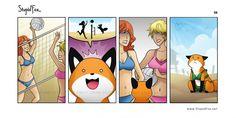 Me encantan los comics de Stupid Fox