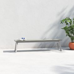 Concrete Garden Bench, Wooden Garden Benches, Patio Bench, Contemporary Outdoor Benches, Modern Bench, Garden In The Woods, Take A Seat, Table And Chairs, All Modern