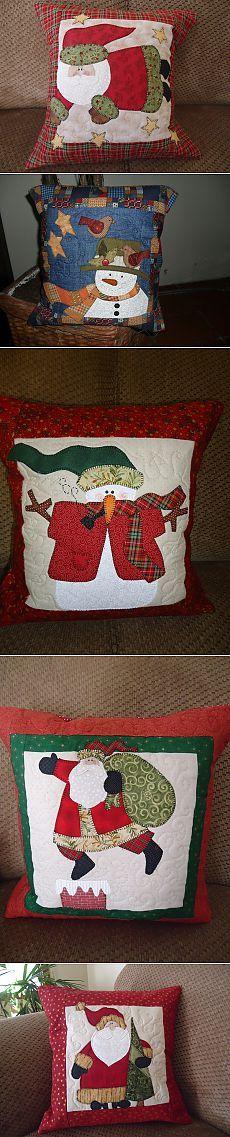 Новогодние и другие лоскутные подушки, поделки в стиле пэчворк.