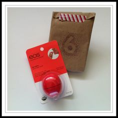 """Sage says, """"On the 6th day of Christmas, my Santa gave to me… six geese a laying. No, wait. It's lip balm shaped like an egg."""""""