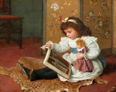 Storytime (1893 )Charles Haigh Wood born May 9, 1854 in Bury (Lancashire), UK died March 25, 1927 in Hastings (England), UK en.wikipedia.org/... www.bbc.co.uk/...
