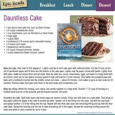 DAUNTLESS CAKE RECIPE!!!!!!!