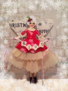 Artful Curiosities: Twelve Days of Christmas -Day Three Christmas Paper, Homemade Christmas, Christmas Angels, Xmas, Paper Ornaments, Handmade Ornaments, Twelve Days Of Christmas, All Things Christmas, Victorian Christmas