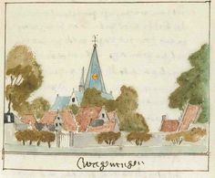 painting of Wageningen by Andries Schoemaker