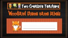 This product contains labels that are perfect to place on tubs and trays. You simply need to write the names on it. Print and display in the classroom. #woodlandtheme #classroomdisplay #tublabels #nameplates #printable #backtoschool
