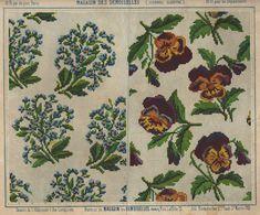 Pattern from 'Le Magazin des desmoiselles' 1865-1869 Lith. La Vapeur de Dupuy. Looks like Berlin Woolwork.