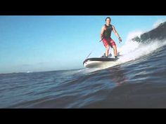 Lampuga AIR surfing waves - YouTube