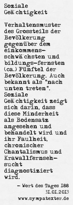 Soziale Geächtigkeit - www.sympatexter.de