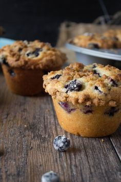 These giant blueberry muffins are super moist, loaded to the gills with blueberries and topped off with the best brown sugar cinnamon streusel topping ever! You'll love them!