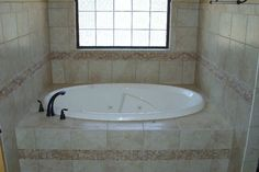 Ceramic Tub Surround Tub, Corner Bathtub, Tub Surround, Custom Bathroom, Flooring, Laundry Room Flooring, Laundry In Bathroom, Room Flooring, Winnsboro