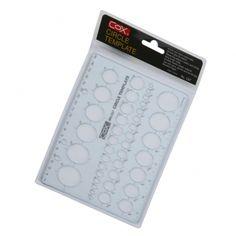 PLANTILLA PLASTICA COX C-67 CIRCULOS  http://www.platino.com.gt/producto/plantilla-plast-cox-c-67-circulos