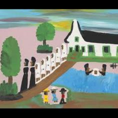 'Baptism on Cane River' - Clementine Hunter