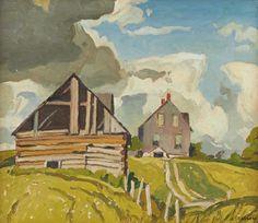 Alfred Joseph Casson (1898-1992) - Farmhouse Near Tripp Lake, Lake Baptiste