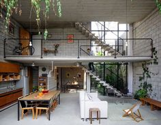 El loft: Una nave industrial convertida en vivienda.