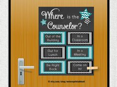 School Counseling Office, School Counselor Gifts, Guidance Counselor, Mental Health Counselor, Office Door Decoration, Printable Poster
