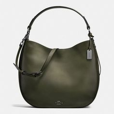 Coach Nomad Hobo ($495) ❤ liked on Polyvore featuring bags, handbags, shoulder bags, leather hobo shoulder bags, leather purses, crossbody purses, leather crossbody purses and leather crossbody