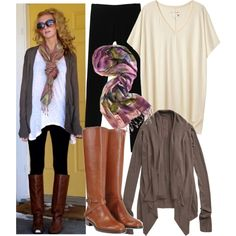 This looks like a maternity outfit but I can definitely rock this casual look! created by mary-363 on Polyvore
