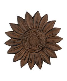 Look at this #zulilyfind! Rust Sunflower Stepping Stone #zulilyfinds