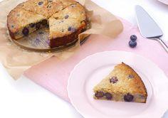 Healthy Baking: Cashewnotentaart met blauwe bessen