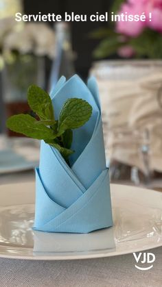 Paper Napkin Folding, Christmas Napkin Folding, Comment Dresser Une Table, Graduation Decorations, Table Decorations, Diy And Crafts, Paper Crafts, Christmas Table Settings, Christmas Diy