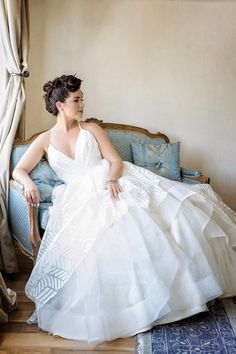 Romantic wedding dress idea - Hayley Paige 'Behati' gown {William Innes Photography}