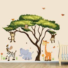 Wandsticker Kinderzimmer - Farbe und Freude an der Kinderzimmerwand
