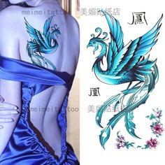 small colored phoenix tattoo Hand - Google Search