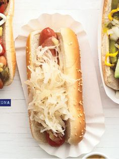 Kansas City: In the City of Fountains, a hot dog is cooked on a griddle, sandwiched in a sesame-seed bun and topped with sauerkraut and Swiss cheese.