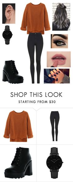 """Untitled #3223"" by vanessa898 ❤ liked on Polyvore featuring WithChic, Topshop, Bamboo and CLUSE"
