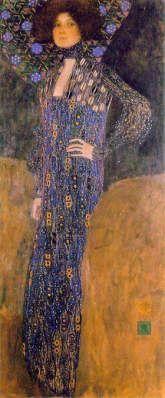 """Portrait of Emilie Floge"" by Gustav Klimt. I adore Klimt. Especially his really gilded stuff. Gustav Klimt, Art Klimt, Art Nouveau, Moda Floral, Monalisa, Art For Art Sake, Op Art, Famous Artists, Fashion Drawings"