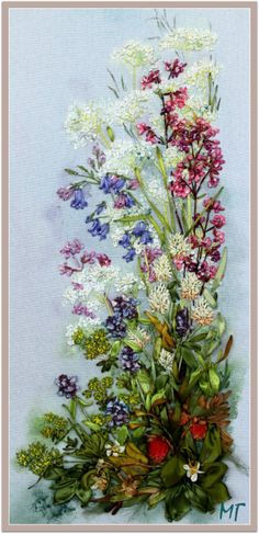 Wonderful Ribbon Embroidery Flowers by Hand Ideas. Enchanting Ribbon Embroidery Flowers by Hand Ideas. Ribon Embroidery, Cross Stitch Embroidery, Embroidery Patterns, Machine Embroidery, Ribbon Art, Ribbon Crafts, Brazilian Embroidery, Embroidery Techniques, Fabric Flowers