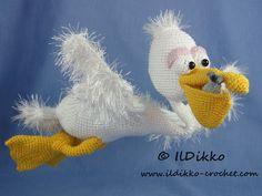 Amigurumi Crochet Pattern  Pablo the Pelican
