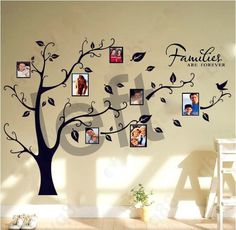 Family Tree Wall Decal Left Or Right Tree Art . Starting At $8 On Tophatter.