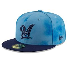 buy online 1515d f1fdb Men s Milwaukee Brewers New Era Blue Navy 2019 Father s Day On-Field  59FIFTY Fitted