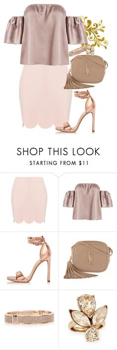 """""""Untitled #337"""" by dreamer3108 on Polyvore featuring River Island, Yves Saint Laurent and Oscar de la Renta"""