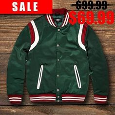 a2d2fb040844e9 Italian Colorway Inspired Italian Fashion Green Red Stripe Snake and Bees  Varsity Jacket