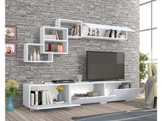 How and where to make a modern TV cabinet design? Modern Tv Unit Designs, Modern Tv Wall Units, Living Room Tv Unit Designs, Tv Unit Decor, Tv Wall Decor, Bedroom Wall Units, Modern Tv Cabinet, Tv Unit Furniture, Furniture Stores