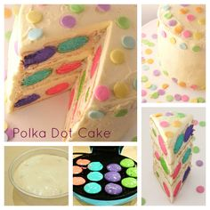 Polka Dot Cake What? Only reason ever I would buy a cake pop maker and now I think I need one! Cutest idea ever!