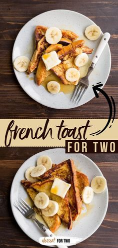 Grab some brioche bread and make a tasty breakfast idea for two! You're going to love this small batch french toast recipe so much, you'll want to double or triple it for later. Perfect for a back to… Breakfast Bars Healthy, Healthy Breakfast Casserole, Delicious Breakfast Recipes, Quick And Easy Breakfast, Breakfast For Dinner, Brunch Recipes, Quick Easy Meals, Breakfast Ideas, Yummy Food