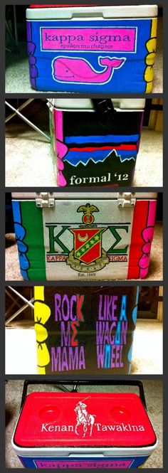 Had fun painting my first cooler!