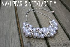 MAXI PEARLS NECKLACE DIY   MY WHITE IDEA DIY// for my best friend J who want a necklace like this for ages!