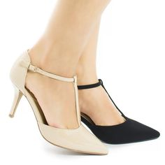 D'orsay T-Strap Stiletto Heel Dress Sandal >>> Check out this great product.