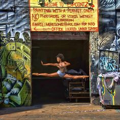 Augggghhh I love this woman.  My beautiful, talented friend Aisha Mitchell of the Alvin Ailey Dance Company. Photo by Richard Calmes, taken at 5Pointz Queens, NY.