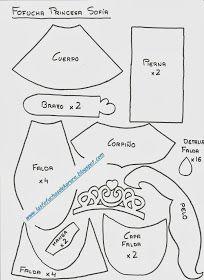 Fofuchas Princesa Sofia patrón 01                                                                                                                                                                                 Más