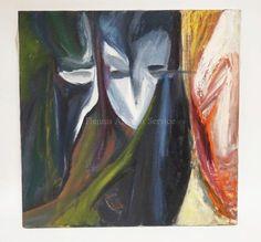 RICHARD MANN ABSTRACT OIL PAINTING ON CANVAS. 24 INCHES SQUARE. Lot 1187 | #1737578709 Oil Painting Abstract, Art, Craft Art, Kunst, Abstract Oil, Art Education, Sanat