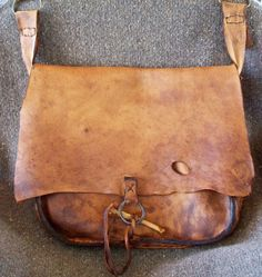 Primitive Mountain Man Antelope leather Possibles Bag or Messenger Bag with Aged…